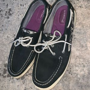 SPERRY Topsiders Black (Women's 9.5)